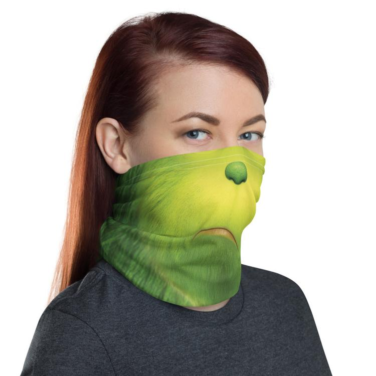 Santa Grinch Face Mask & Neck Gaiter